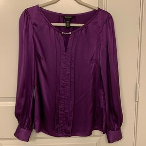 WHBM Silk Purple Blouse sz 4